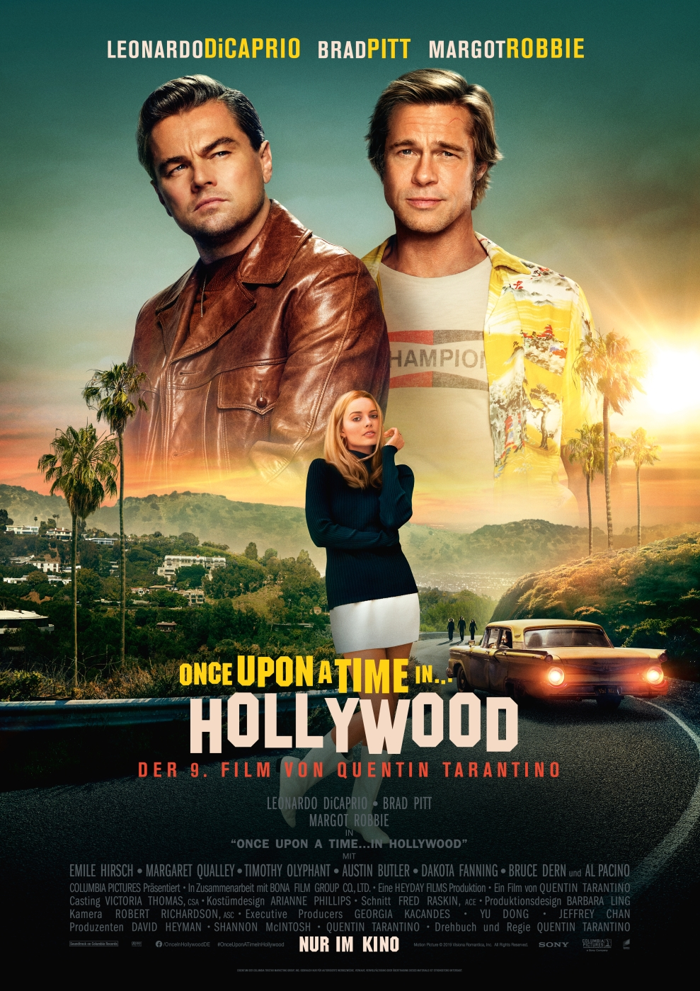 Once Upon A Time In Hollywood - Filmplakat