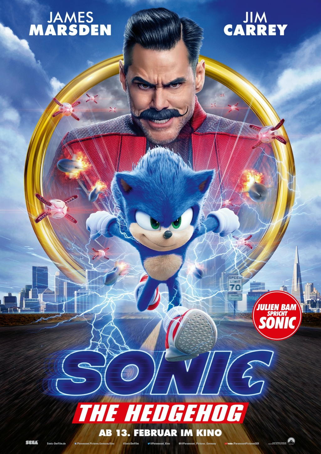 Sonic The Hedgehog - Filmplakat